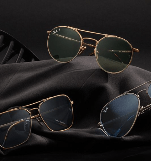 ray ban titanium collection