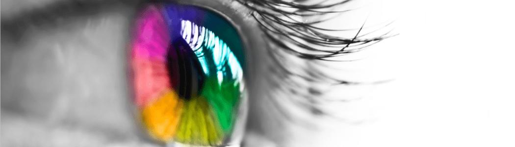 olho colorido