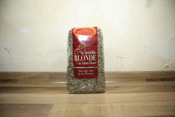 Lentille blonde de Saint-Flour : paquet en sachet de 500 grammes