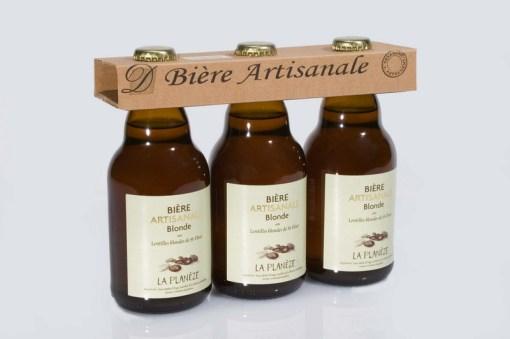 Bière artisanale de lentilles blondes : Pack de 3 bouteilles de 33cl