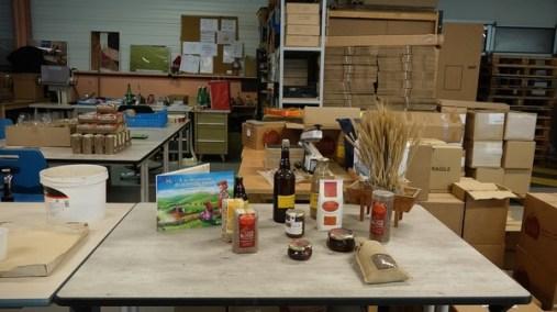 Diverses produits de la lentille blonde de Saint-Flour