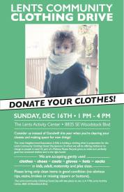 Clothing Donation Drive