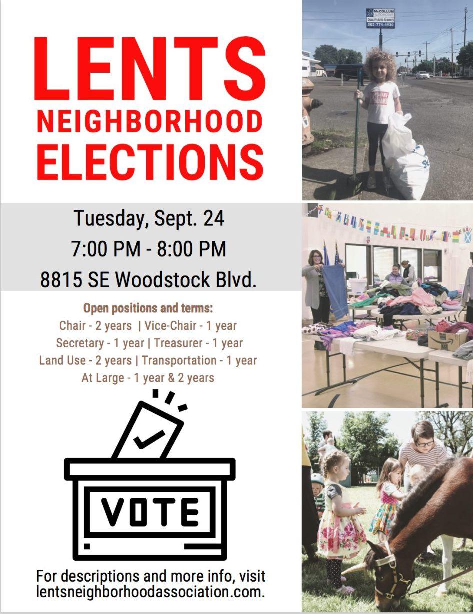 Lents Neighborhood Elections