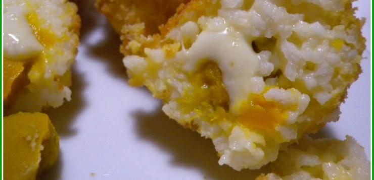 Arancini di riso ripieni di zucca
