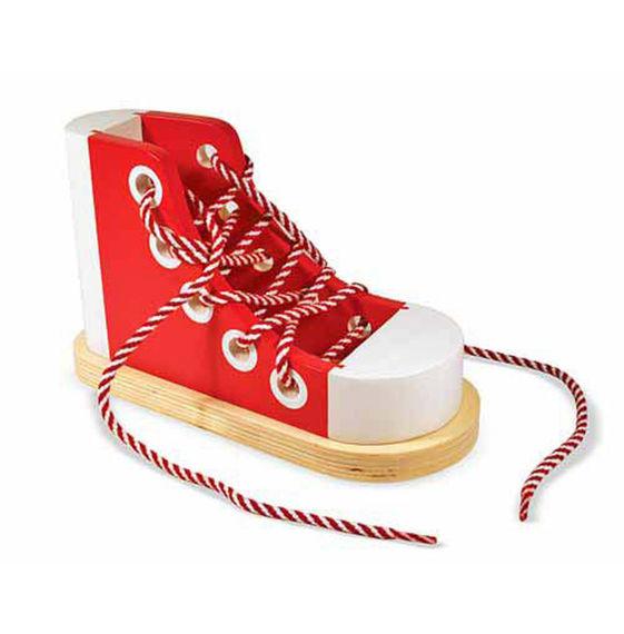 colorata scarpa di legno