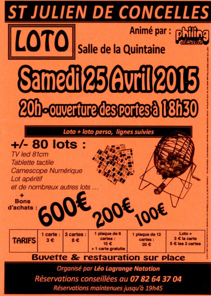 FLYER LOTO 25 AVRIL 2015