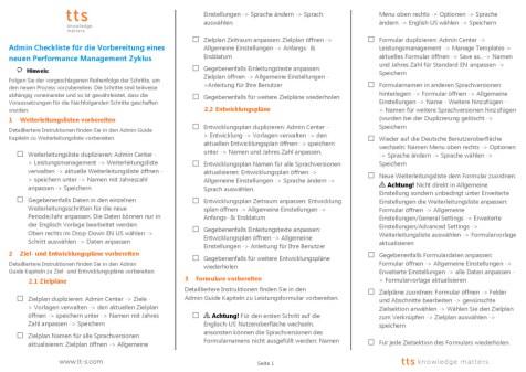 Leos SuccessFactors Performance & Goals Checkliste für Admins