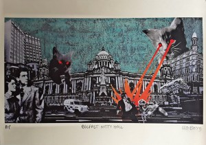 Belfast Kitty Wall print by Leo Boyd
