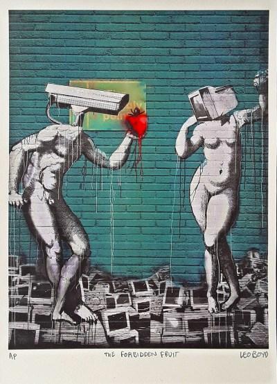The Forbidden Fruit print by Leo Boyd