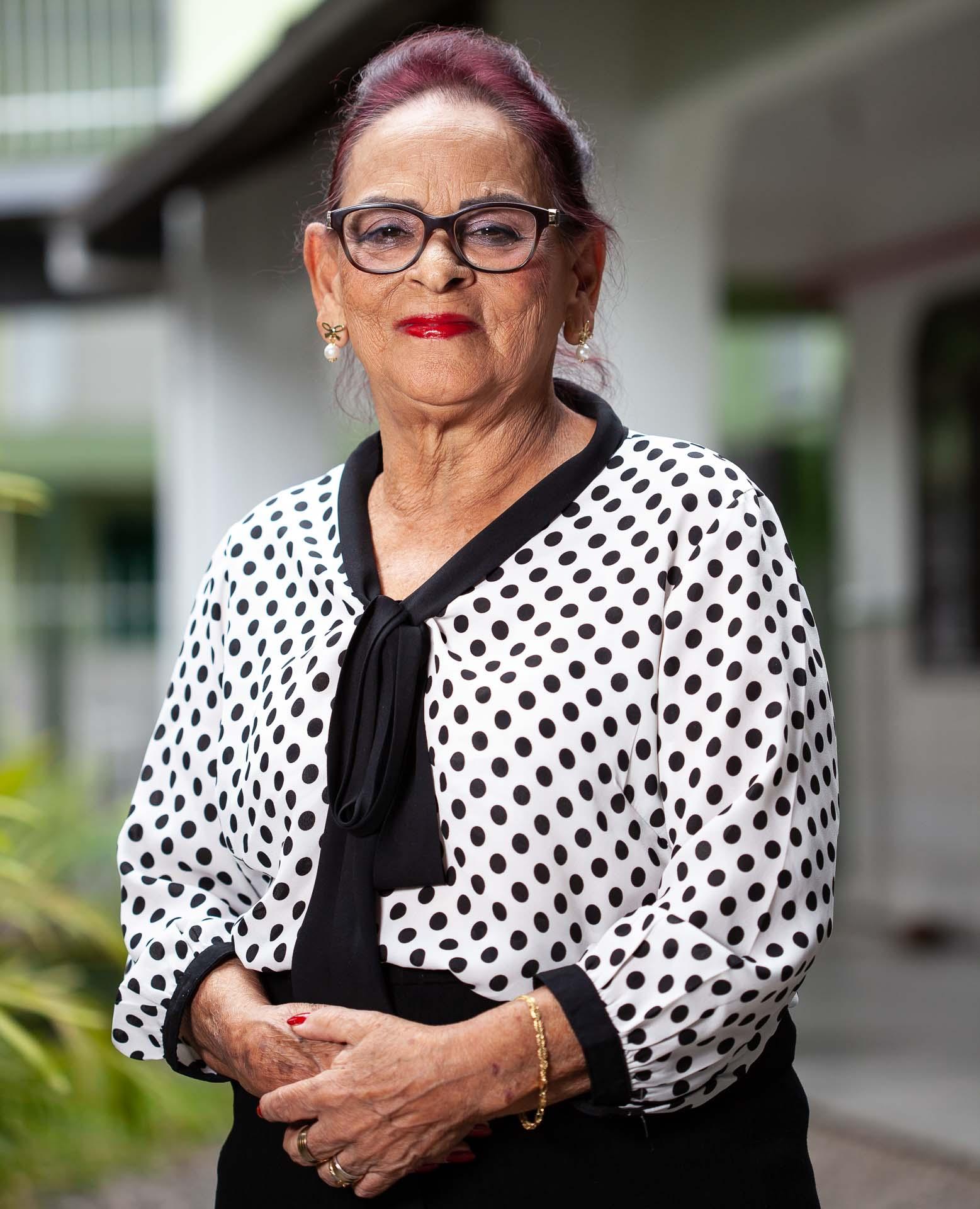 Retrato com a presidente da APAE Joinvile, Heloisa Walter de Oliveria