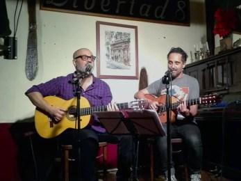 LEO MINAX participación de JORGE DREXLER CAFÉ LIBERTAD MADRID 06-05-2016 Foto Dani Mayo