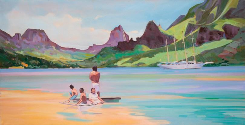 Après-midi en baie de Cook par Nathalie Jolibois