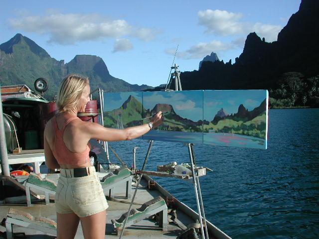 Nathalie Jolibois en Baie de Cook