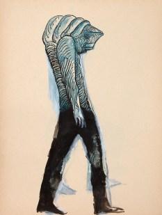 Crayon et encre sur papier 25 × 34 cm