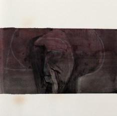 Crayon et encres sur papier 25 × 25 cm