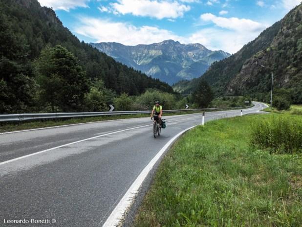 Il sentiero Valtellina (tratto di SP27) nel parco nazionale dello Stelvio