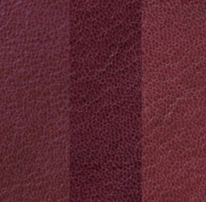 Natural grain goatskin with a prominent grain. Shades vary.