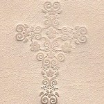 Floral cross stamp