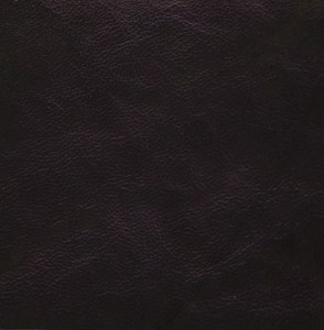 Spindled rustic goatskin, hand-dyed and antiqued to a deep mahogany finish