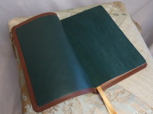 Forest Lambskin with Ivy Book Cloth