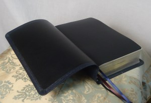 Black Lambskin with Black Leatherette End Pages