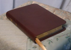 Brown River Grain Goatskin Bible
