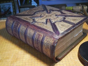 Family Bible After Restoration