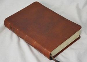 Saddle Tan English Calfskin Bible
