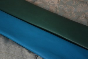 Colorful soft-tanned goatskin -- green and turquoise