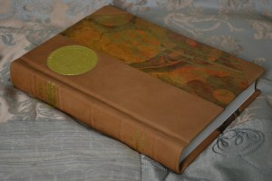 Three quarter leather for a very special book