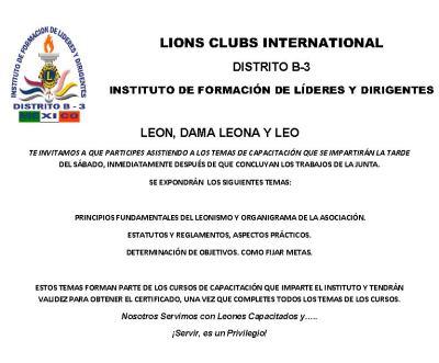 INVITACIÓN A PARTICIPAR EN LOS TEMAS DE CAPACITACIÓN  SEGUNDA J G