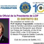 Visita Presidente LCIF a Clubes de Saltillo