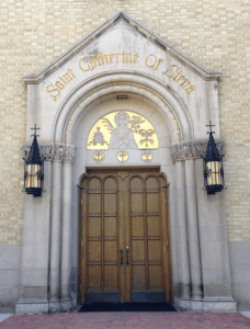 I thought the gold detail over the door at St Catherine's (Denver) was exquisite.
