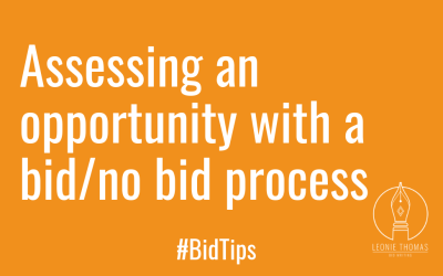 #BidTips – Bid/no bid – assessing the opportunity