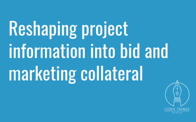Reshaping project information into bid and marketing collateral