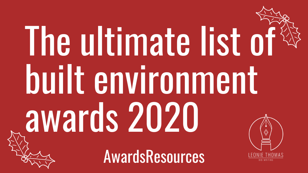 blog header - built environment awards 2020