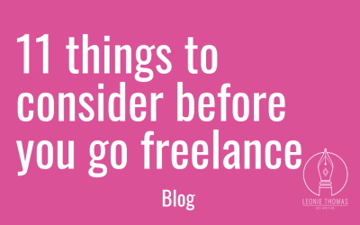 11 things to consider before you go freelance