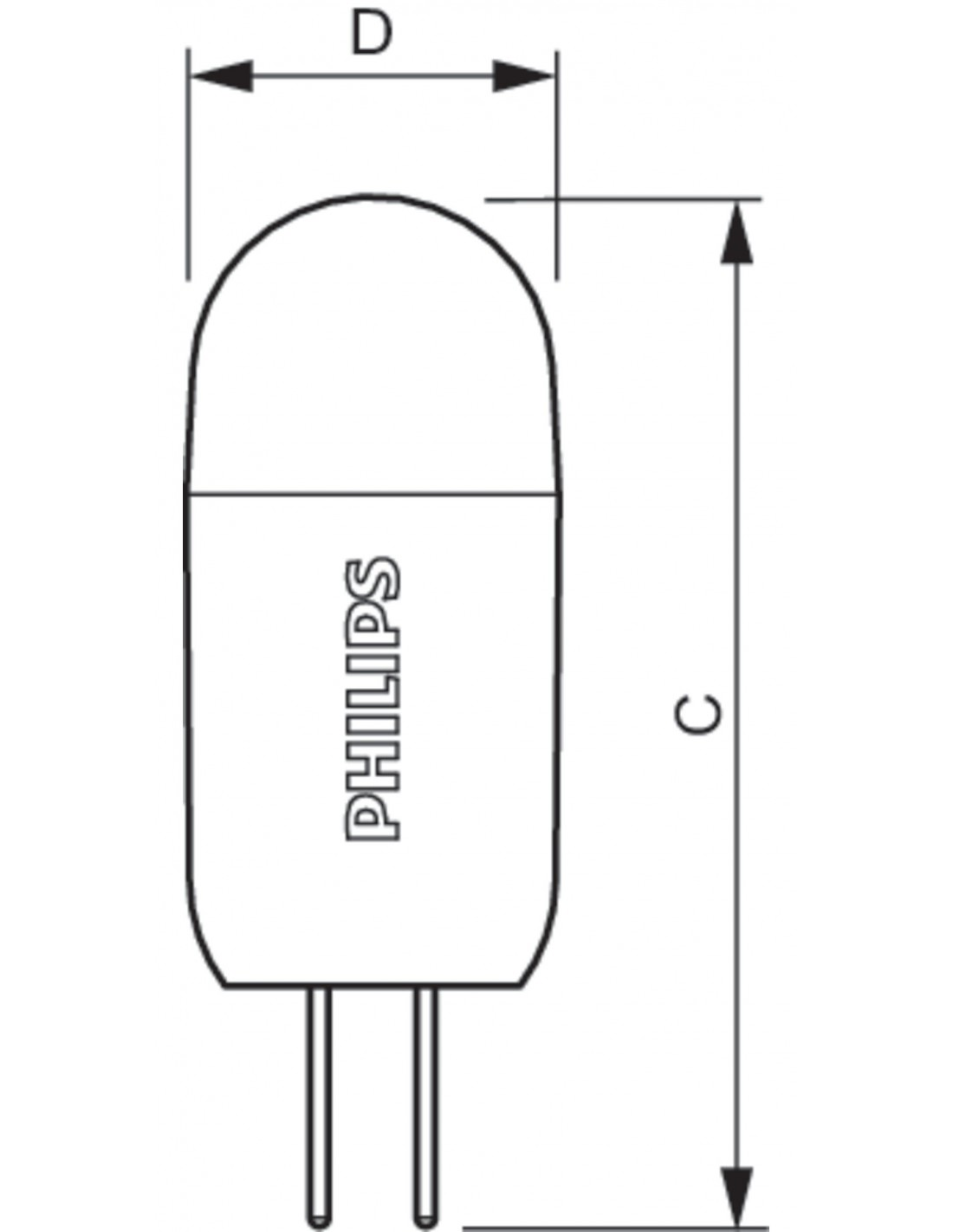 Illa G4 Regulable Corepro Ledcapsula 2w De Philips