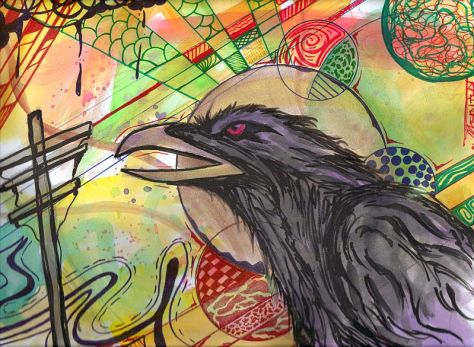"Detailed and Finished Piece ""Night Raven"""