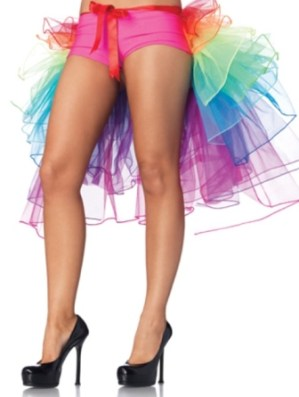 Burlesque Rainbow Bustle Layered Petticoat Skirt
