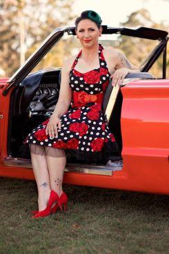 Dress Rockabilly Retro Red Roses