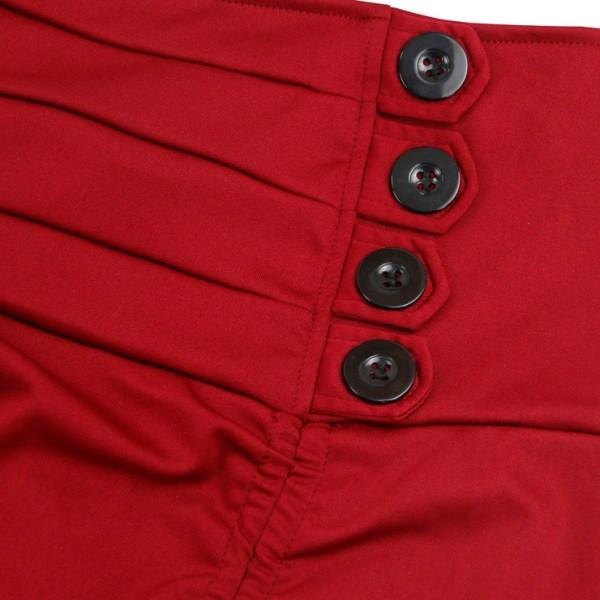 Burgundy Red Victorian Burlesque Steampunk High Low Skirt