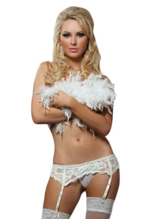 Plus Size White Sheer Thigh High Stockings 'Elegant Moments'