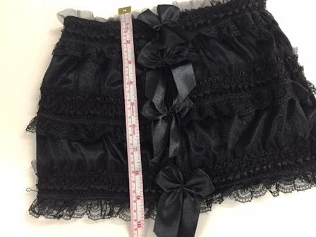 Black Satin, Lace & Bows Burlesque Micro Mini Skirt