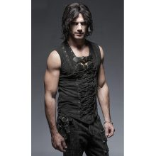 mens punk steampunk rocker vest