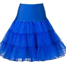 Blue Rockabilly Swing Layered Petticoat