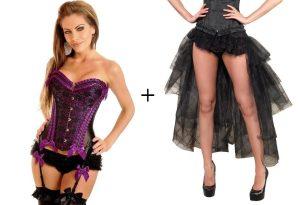 burlesque corset skirt