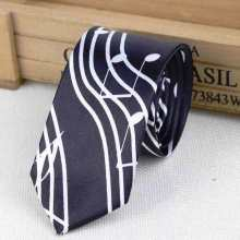 Men's music notes tie