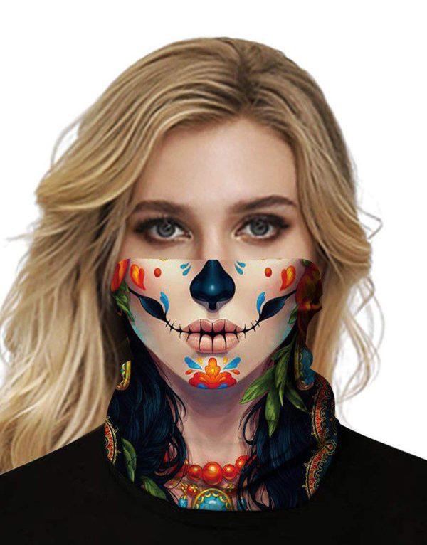 Sugar Skulls Mask Bandana