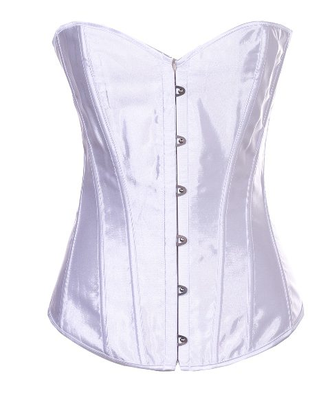 corset front busk white